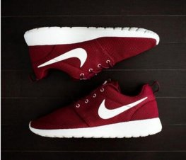 red nike shoes